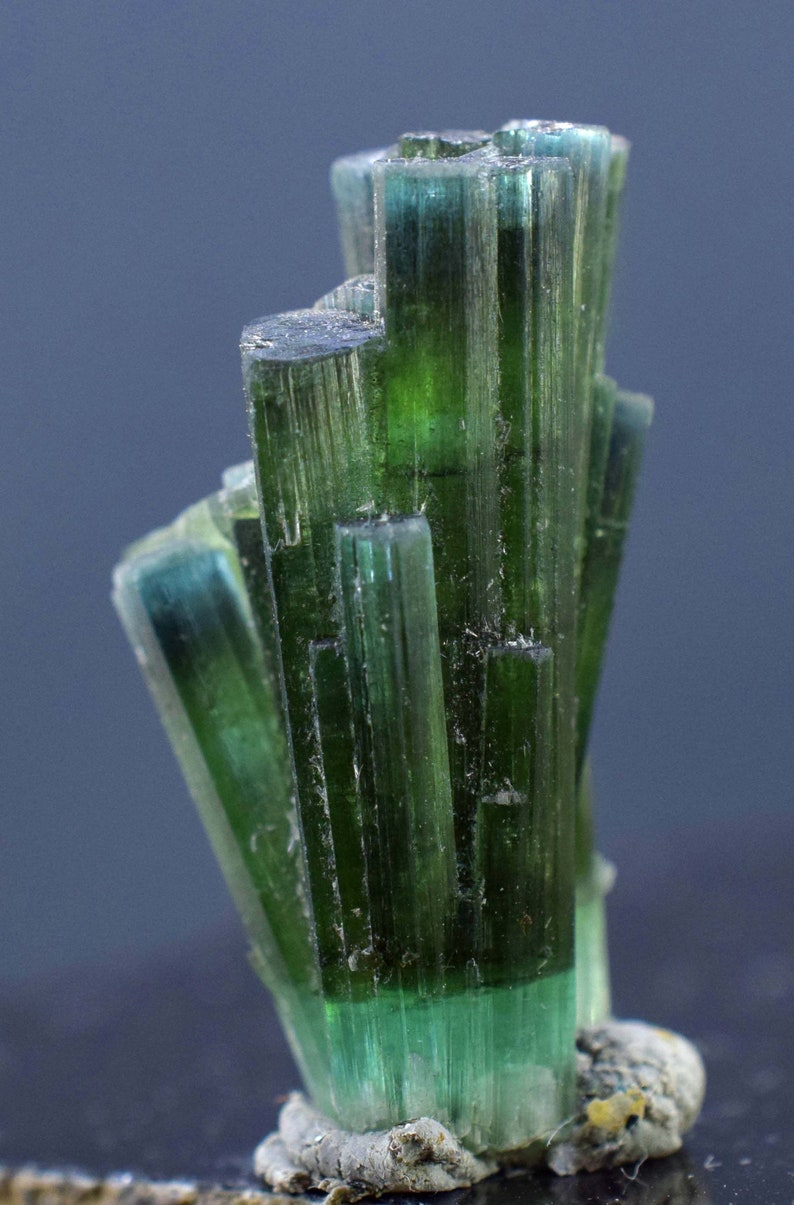 Blue Green Color Tourmaline Crystals   26 cts  271411 mm image 0