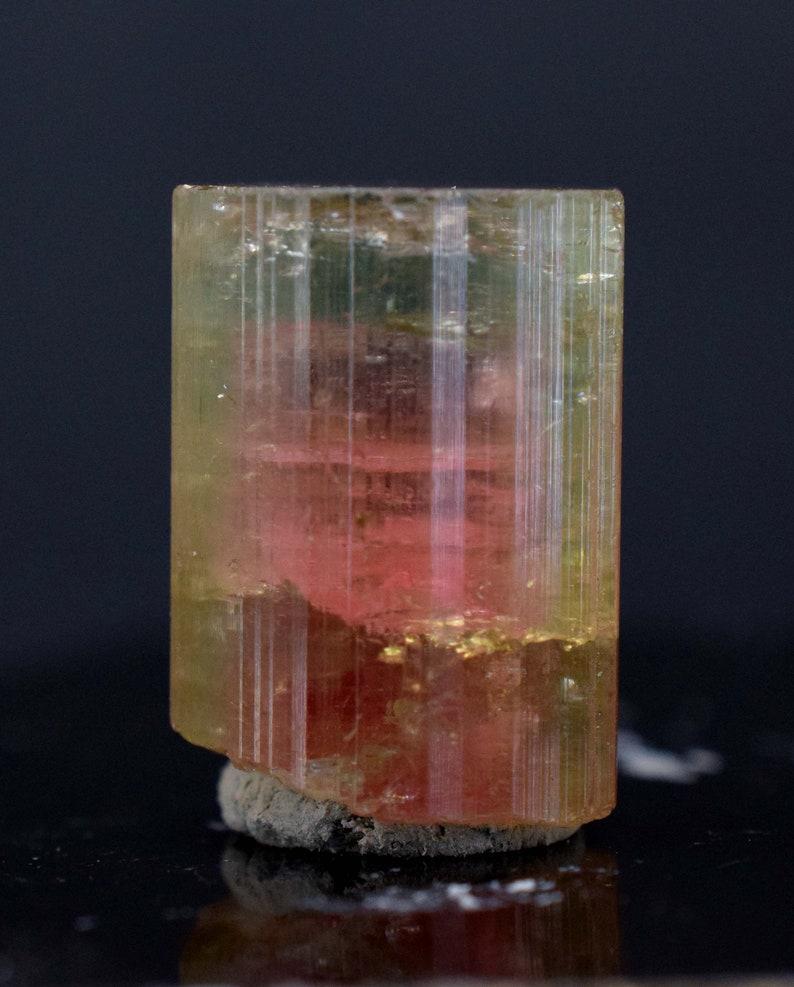Tourmaline  Terminated Bi Color Natural Tourmaline Crystal image 0