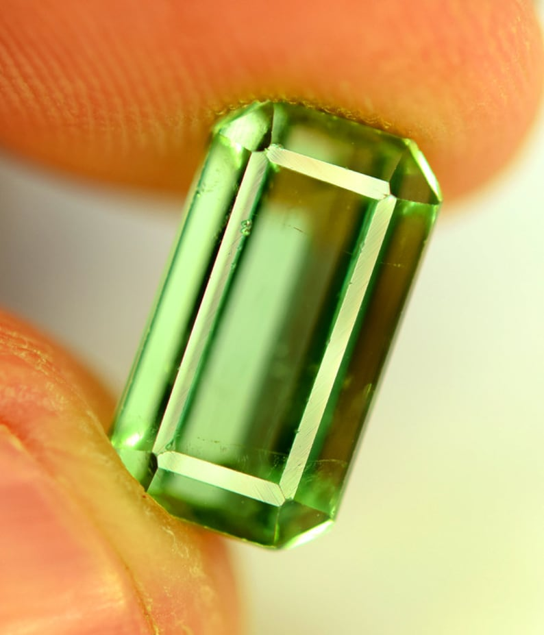 Tourmaline Gemstone  Natural Green Tourmaline from image 0