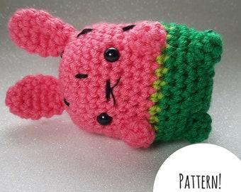 Watermelon Bunny Amigurumi Pattern