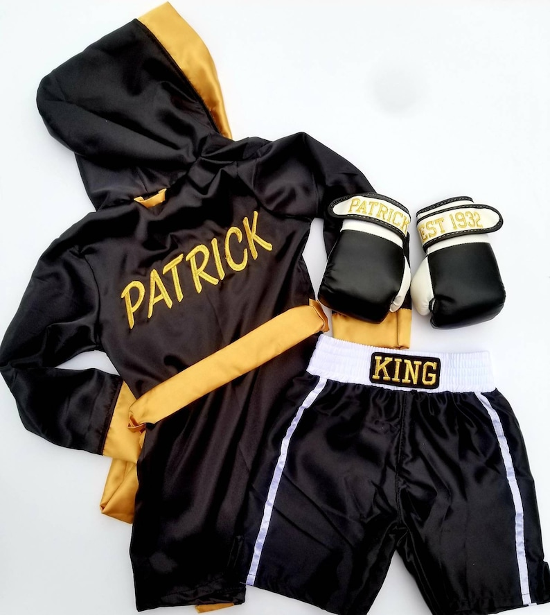 Personalised Boxing Robes: Baby Boxing Set ROBE Personalizedshorts Personalized And