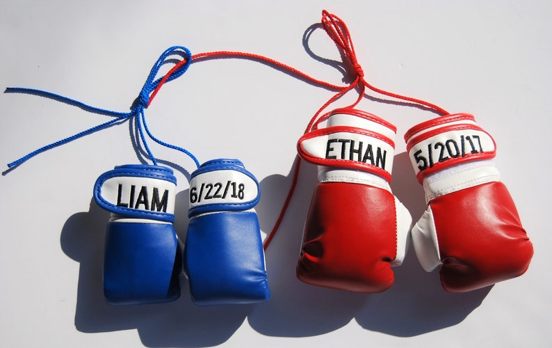 Baby boxing gloves personalized Big brother Little brother boxing gloves
