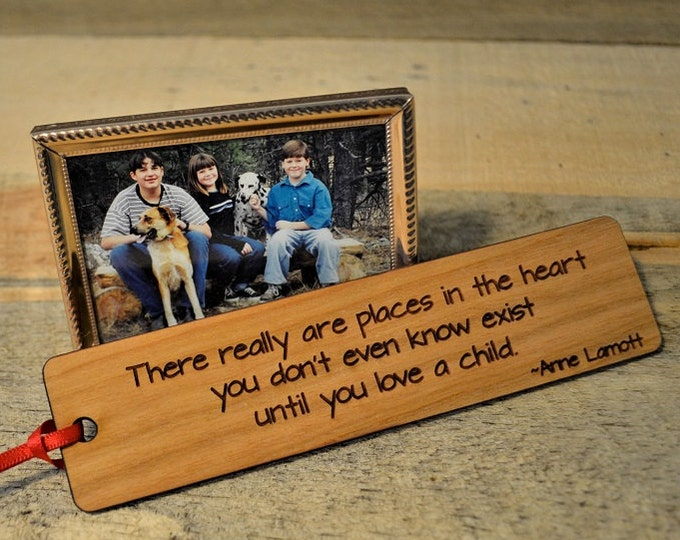 PARENTING BOOKMARKS: Choose from six quotes; see lists in photos for choices! Each one is engraved on cherry wood, and can be personalized!