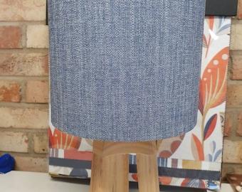 Plain demin Drum lampshade fabric design lamp drum lampshade
