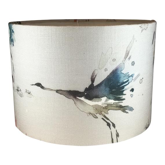 Voyage Bird Lampshade Handmade, Handmade Lampshades Norfolk