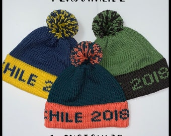 02fe9d21 Personalize Knit Beanie | Made to Order | Medium Text and Medium Pom