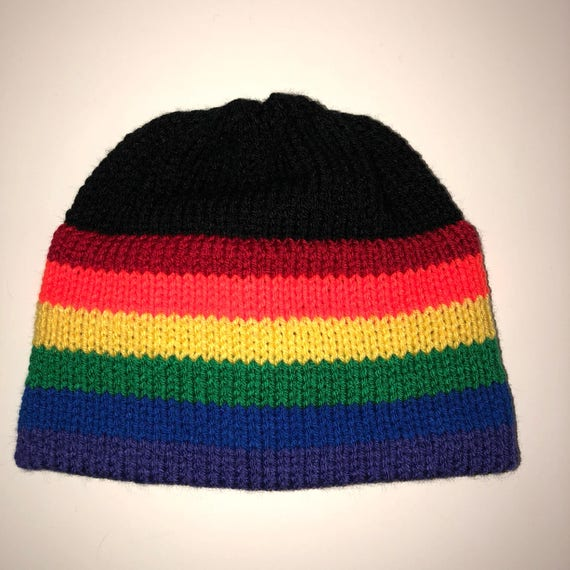 Rainbow Knit Beanie Made to Order  5bf95ef589f