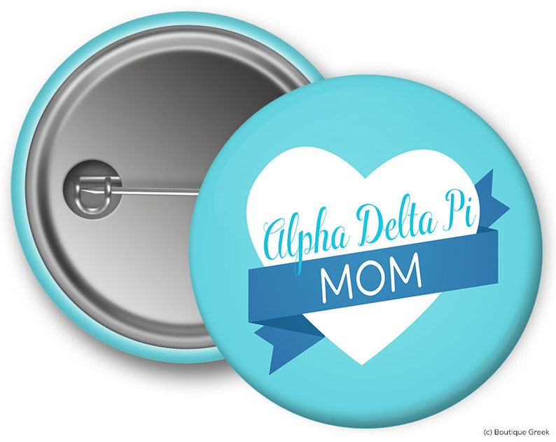 5331d6b853a1b ADPi Alpha Delta Pi Mom Sorority Greek Button