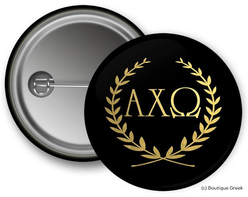 a937fd4fea3ba3 AXO Alpha Chi Omega Wreath Sorority Greek Button