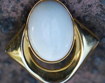Pair of Clip On metal and enamel earrings