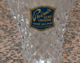 Phonix Lead Crystal Vase with original sticker