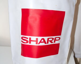 Sharp vinyl duffle bag