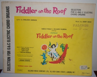 Fiddler on the Roof - Selection for Electric Chord Organs Sheet Music
