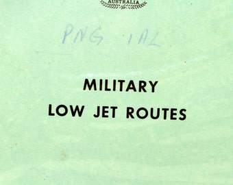1980's Australian Department of Transport Military Low Jet Routes Manual