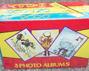 Set of 3 Retro Photo Albums in Original Packaging - Happy Couple on Tour