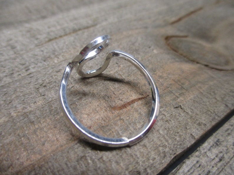 Sterling Silver Square Band Size 6.5 Women Handmade Her Ring Gift