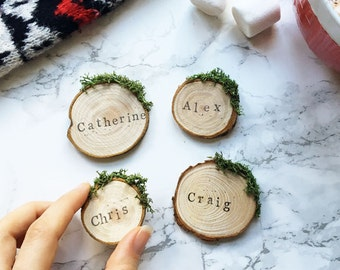 Christmas Place Cards / Holiday Place Settings / Christmas Table Decor /  Christmas Table Settings / Set Of 4 / Personalised