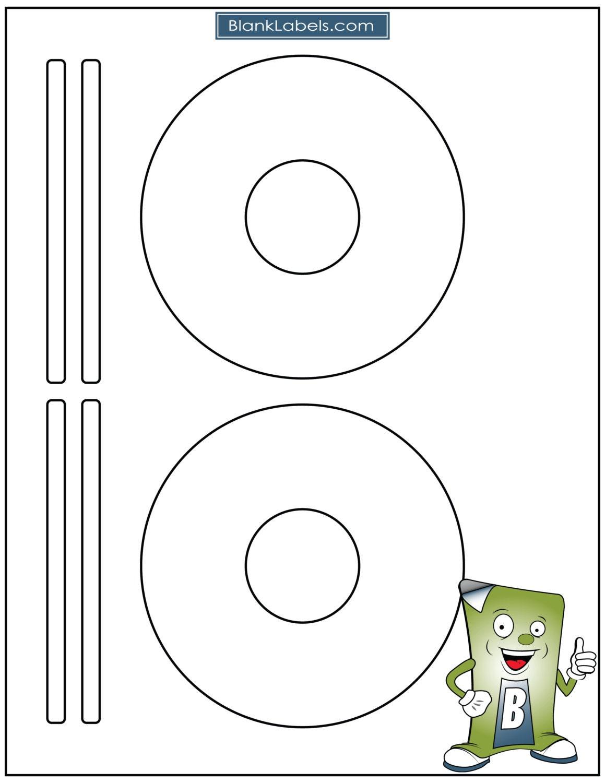 Espacio en blanco del Laser / Ink Jet etiquetas para CD o DVD. | Etsy