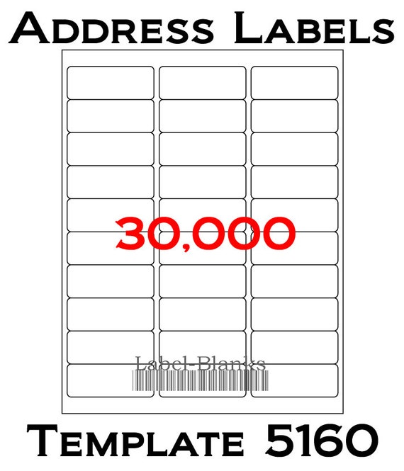 laser ink jet labels 1000 sheets 1 x 2 5 8 etsy
