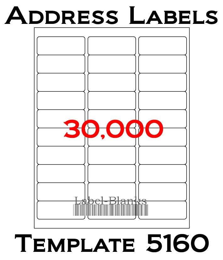 Laser Ink Jet Labels 1000 Sheets 1 X 2 58 Etsy