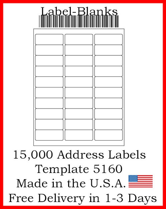 laser ink jet labels 500 sheets 1 x 2 5 8 etsy