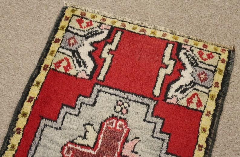 Turkish Rug 21/'/'x35/'/' Hand Woven Kirsehir Mini Carpet 54x90cm Door Mat Yastik
