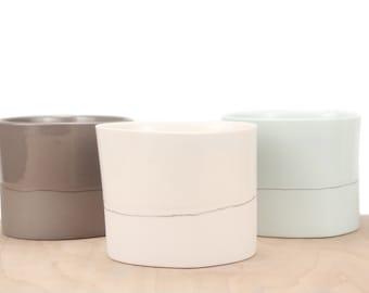 slip-cast porcelain cocktail cup