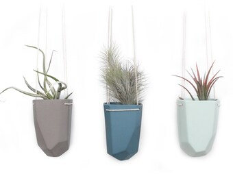 slip cast porcelain hanging crystal planter