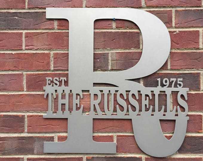 THE REGAL:  Family Established Last Name Sign by HSA