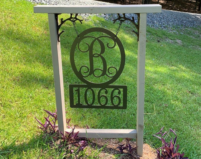 "Address Sign, 22"" T x 15"" W- up to 5 numbers -Street Number Sign, Metal House Numbers, Address Plaque, Modern House Numbers,"