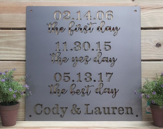 Personalized -What a Difference a Day Makes Sign | Personalized Anniversary  Sign, Personalized Special Dates Family Sign, Anniversary Gift
