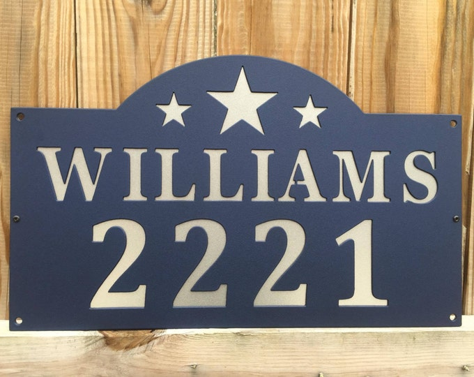 Metal Custom Address Sign, Address Plaque, House Sign, House Numbers, Home Address Signs, House Number Plaque, Last Name Sign, Personalized