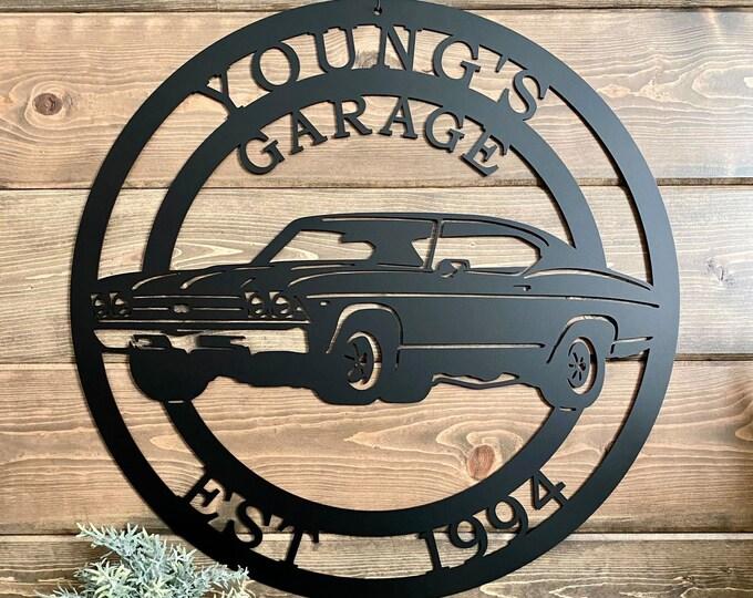 Personalized 1969 Chevrolet Chevelle Established Metal Garage Sign   Race Car Custom Metal Sign  Man Cave Decor   Last Name Sign