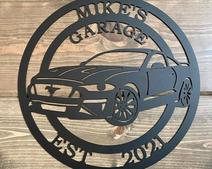 Personalized Ford Mustang Metal Sign - 2000's Series | Custom Metal Sign| Custom Metal Sign| Car Wall Decor | Man Cave Decor | Garage Sign |