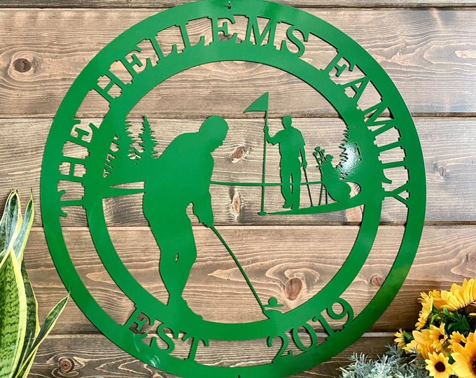 Personalized Golf Sign -- Golfer Sign -- Gift for Him -- Gift for Golfer -- Personalized Metal Sign