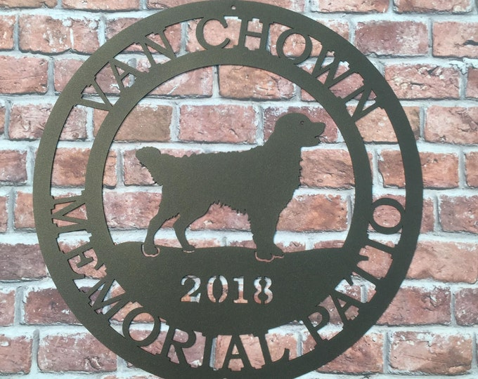 Personalized Dog Sign with Custom Breed Choice, Custom Established Sign , Farm or Ranch Sign, Dog Trainer or Dog Rescue Metal Outdoor Sign