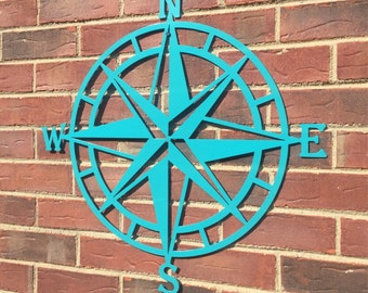 Nice Steel Nautical Star Compass Wall Art, Nautical Decor, Metal Wall Art, Lake House  Decor, Beach House Decor, Outdoor Metal Wall Art