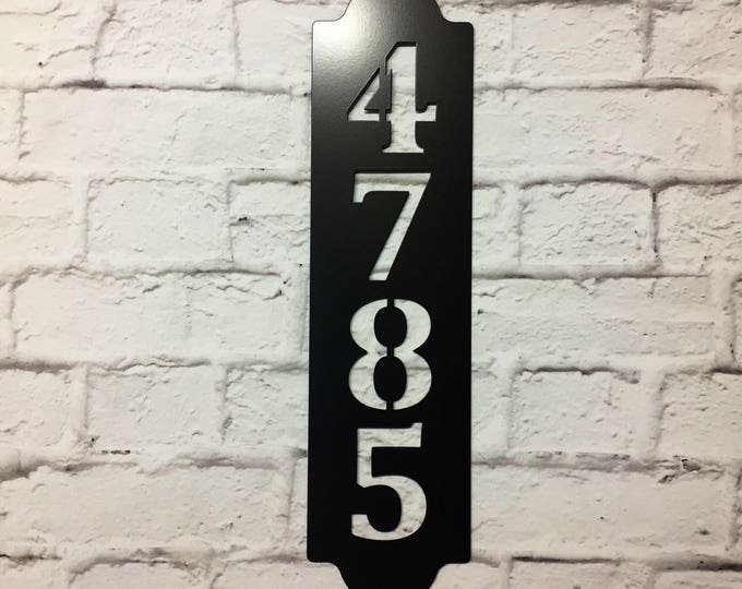 Modern Address Sign, House Number Plaque  / custom address sign/ address plaque/ metal sign/ custom / Home Address Sign