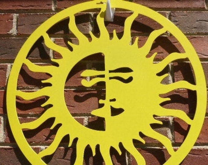 Sun/Moon, Outdoor Art, Pool Art, Custom Metal Art, Metal Wall Art, Outdoor Metal Art/ Sun Art/ Moon Art