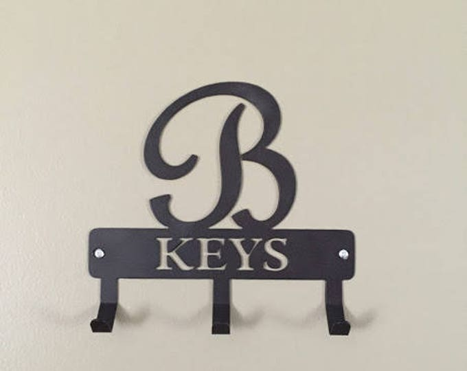 Custom Key Holder, Monogram Key Holder/ Personalized Gift/ Monogram Gift / Key holder for Wall / Key Hanger / Metal Key holder/ Rustic