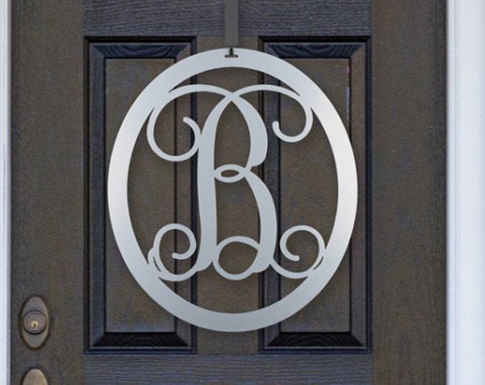 """Metal Monogram Door Hanger - 24"""" Oval By HSA"""