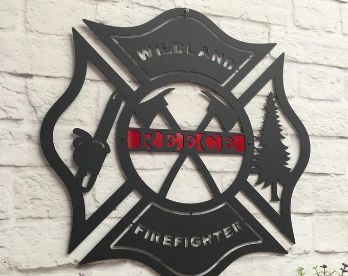 Maltese Cross, Firefighter, Firefighter gift, Firefighter decor, Fire Fighter by HSA