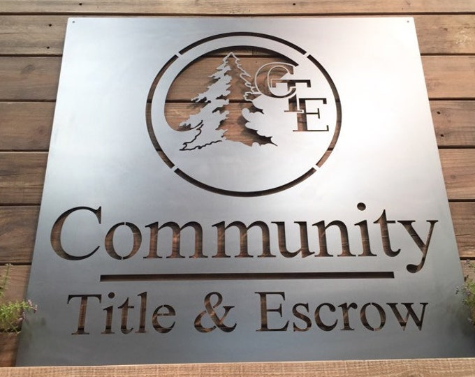 Your Business Logo or Company Artwork - Custom Metal Sign- LASER Cut Sign for A High Quality Sign