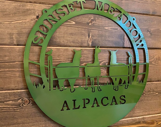 Personalized Alpacas Ranch Sign | Custom Metal Sign