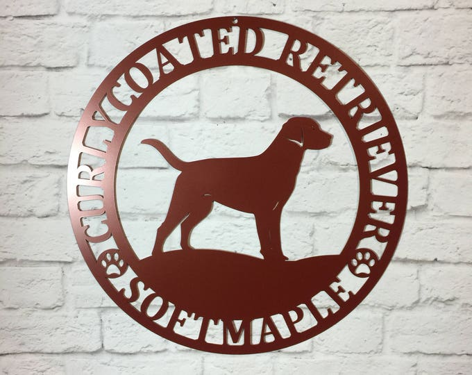 Custom Metal Dog Sign- You pick the Breed | Weatherproof, Address, Welcome, OUTDOOR, Personalized Sign, 100+ Color choices