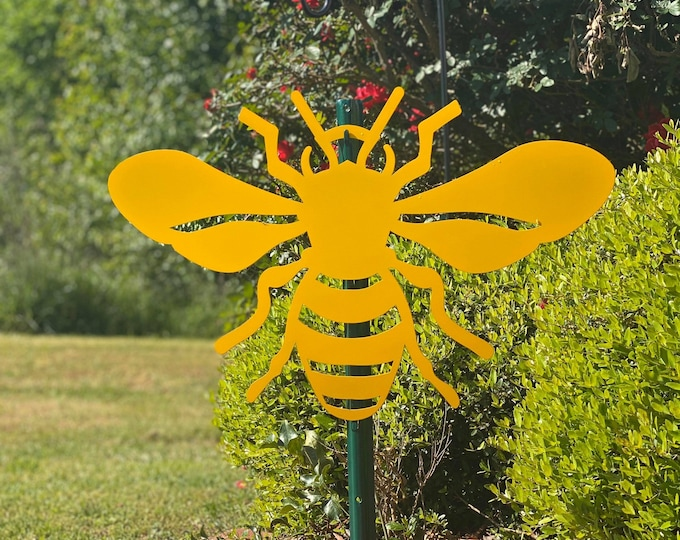 Bee Outdoor Metal Decor!Bee Sign| Beekeeping Custom Metal Sign |  Bee Garden Sign | Outdoor Beehive Sign