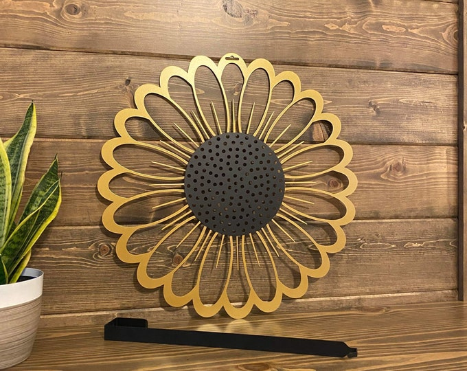 Sunflower Door Wreath / Sunflower Metal Wall Decor / Garden
