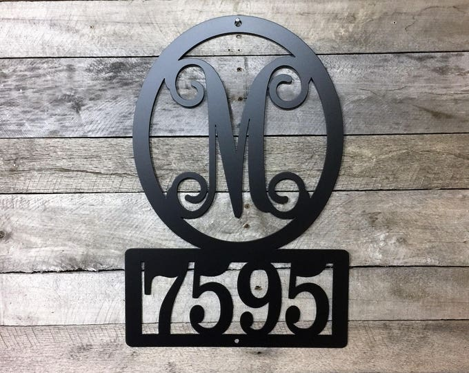 """Address Sign, 22"""" T x 15"""" W- up to 5 numbers -Street Number Sign, Metal House Numbers, Address Plaque, Modern House Numbers,"""