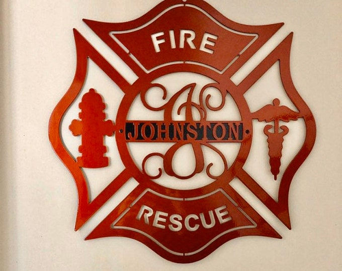 Personalized Firefighter Sign | Firefighter gift, Copyrighted Design of HSA