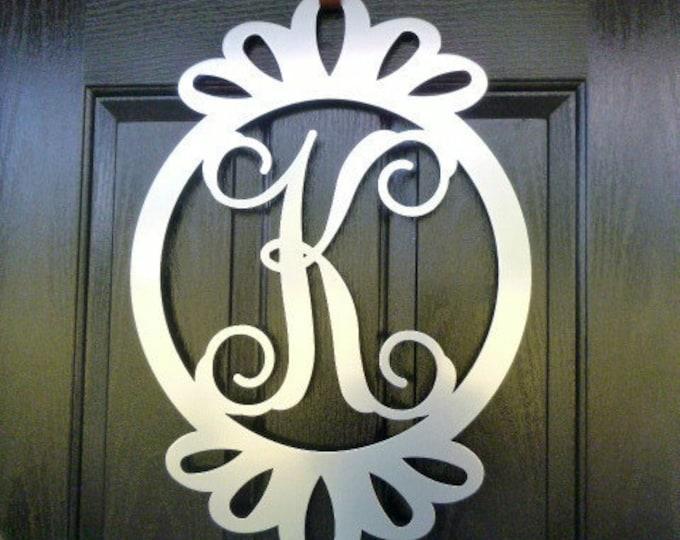 Front Door Wreath, Door Decorations, Monogram Door Hanger,  monogram door hanger, monogram wreath, monogrammed letters, door decor,  SCAL26